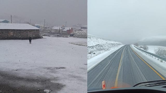 Ardahan'ın yüksek kesimleri karla kaplandı