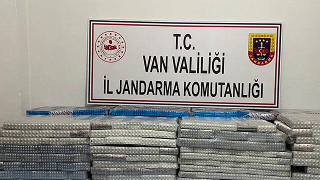 Başkale'de 33 bin 830 tablet kaçak ilaç yakalandı