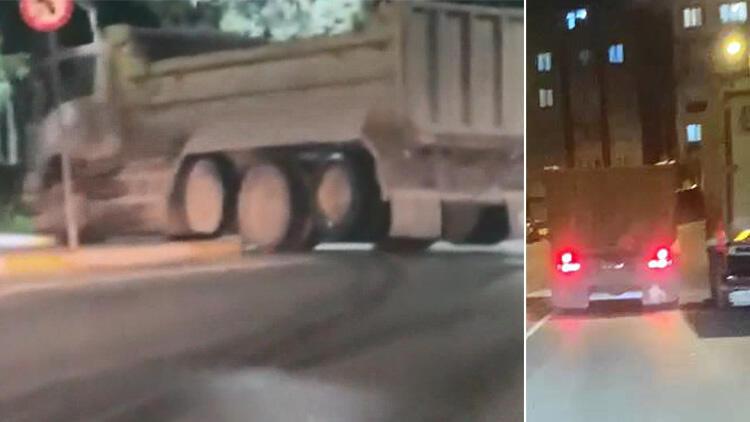 Kural tanımaz kamyoncuyu takip edip, polise yakalattı