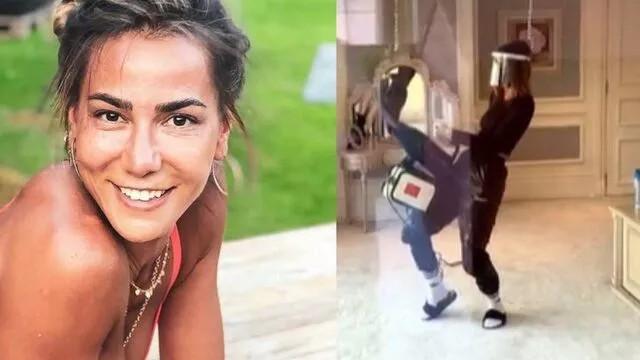 Zeynep Tokuş'un karantina odasını temizleme videosu olay oldu