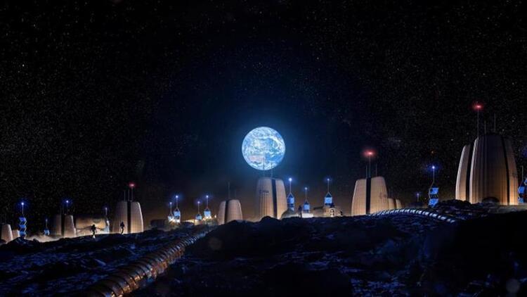 Ay'a inşa edilecek evler ilk kez görüntülendi