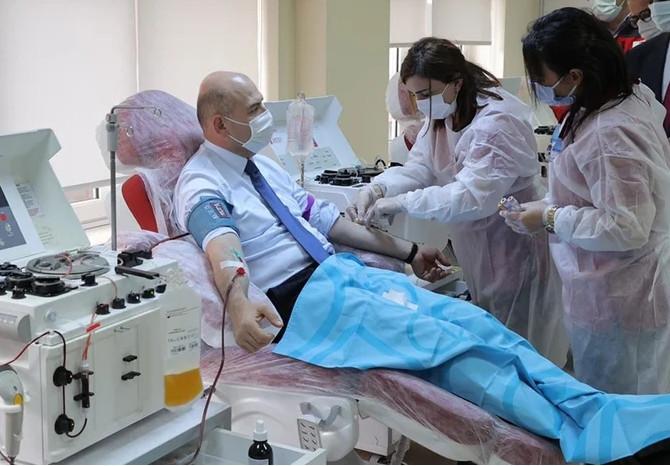 İçişleri Bakanı Soylu plazma bağışı yaptı
