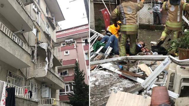 İstanbul'da binanın balkonları çöktü: Yaralılar var
