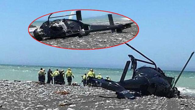 Yeni Zelanda'da helikopter düştü: Ölü ve yaralılar var