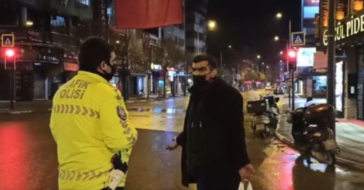 Sokağa çıkma yasağında sokakta yakalandı ama ceza yazılmadı...
