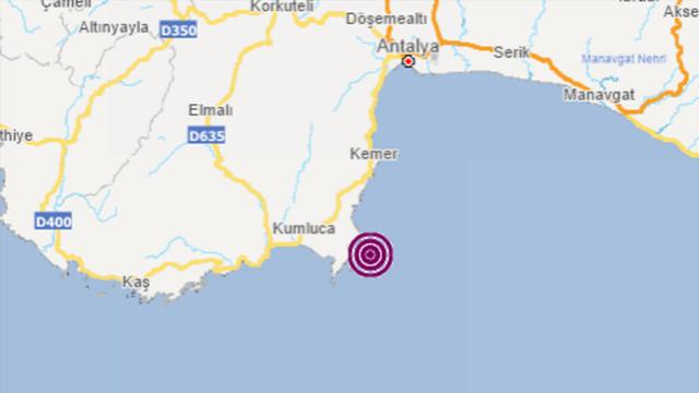 Antalya açıklarında bir deprem daha!