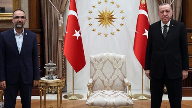 Cumhurbaşkanı Erdoğan, HÜDA PAR Genel Başkanı İshak Sağlam'ı kabul etti