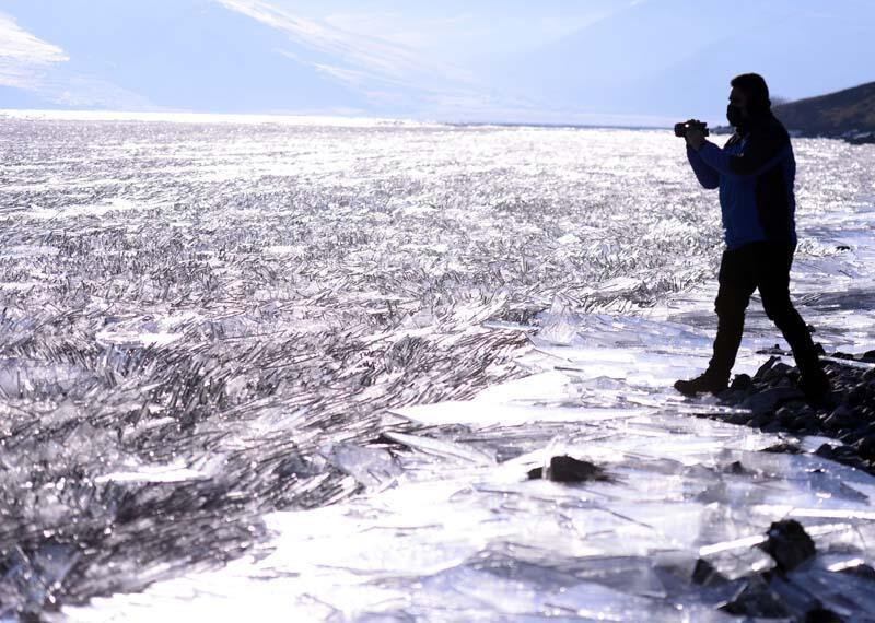 Yazın ayrı, kışın ayrı güzel! Çıldır Gölü'nde görsel şölen - Resim: 1