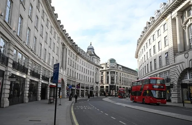 Londra tüm mağazalar kapatıldı!