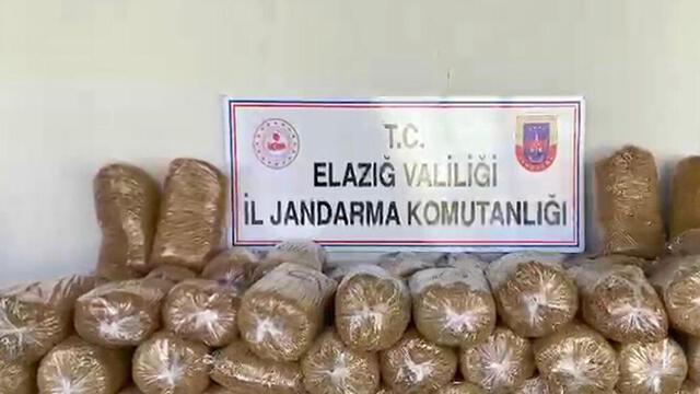 Elazığ'da 360 kilogram kaçak tütün ele geçirildi