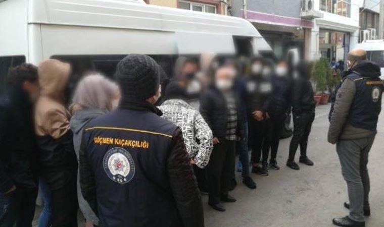 Evden 124 sığınmacı çıktı