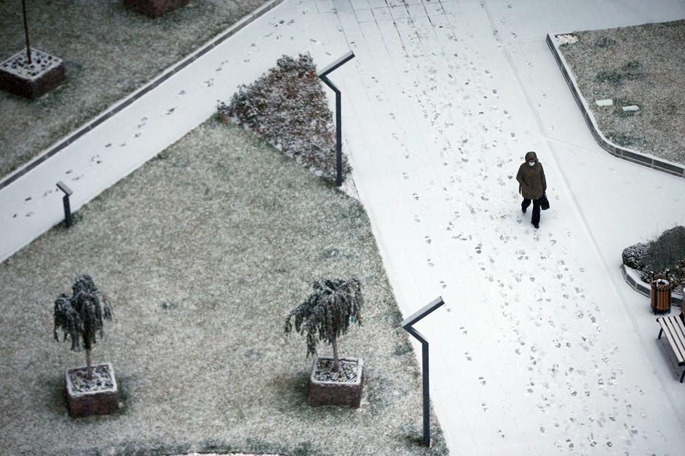 Başkent Ankara güne karla uyandı!