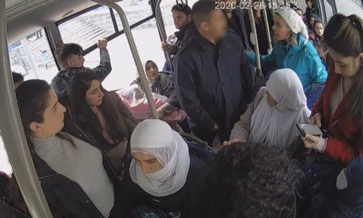 Halk otobüsünde rezalet! Herkesin içinde taciz etti