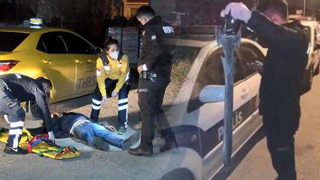 İstanbul'da şoke eden olay! Taksi durağına kılıçla saldırdı!