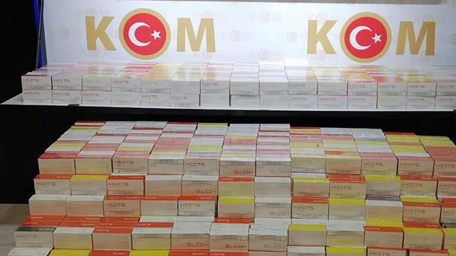 28 bin 600 paket kaçak elektronik sigara tütünü ele geçirildi