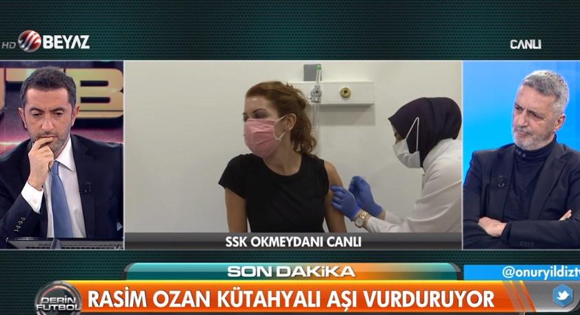 Rasim Ozan Kütahyalı ve Nagehan Alçı, canlı yayında aşı oldu