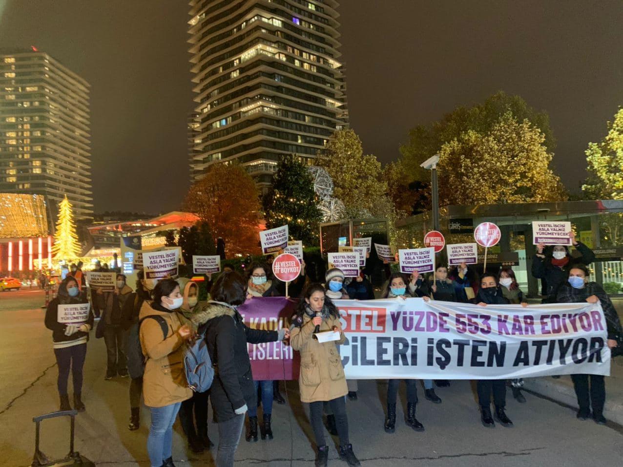 Kadınlardan Vestel'e protesto!