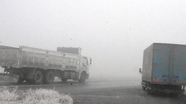 Bitlis'te sis nedeniyle çok sayıda kazaya neden oldu