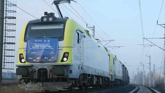 Türkiye'den Çin'e gidecek ihracat treni Kocaeli'ye ulaştı