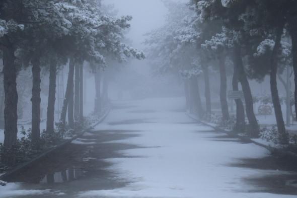 Elazığ'a mevsimin ilk karı yağdı