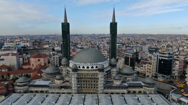 Yüzde 90'ı tamam! Taksim Camisi böyle görüntülendi