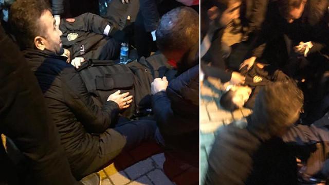 Kimlik soran bekçilere bıçaklı saldırı ! Saldırgan silahla vuruldu