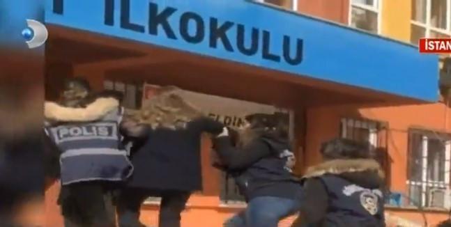 Taciz skandalının yaşandığı okula giden muhabire gözaltı