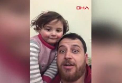 Sosyal medyayı kahreden video! Herkes Suriyeli kızı ve babasını konuşuyor