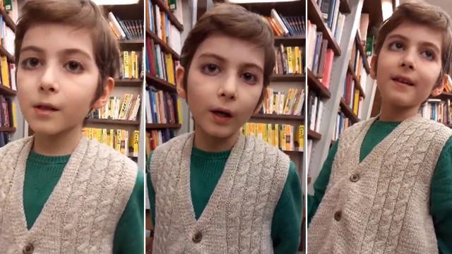 10 yaşındaki Atakan sosyal medyanın gündemine oturdu