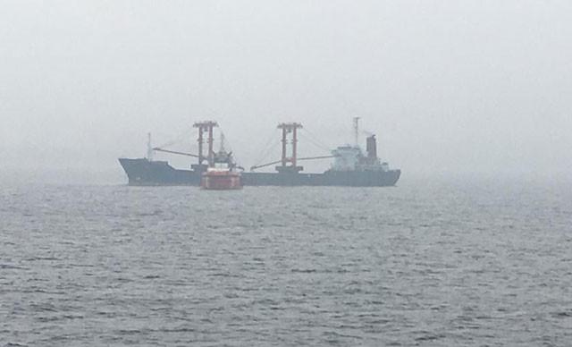 Çanakkale Boğazı'ndaki gemide yangın çıktı