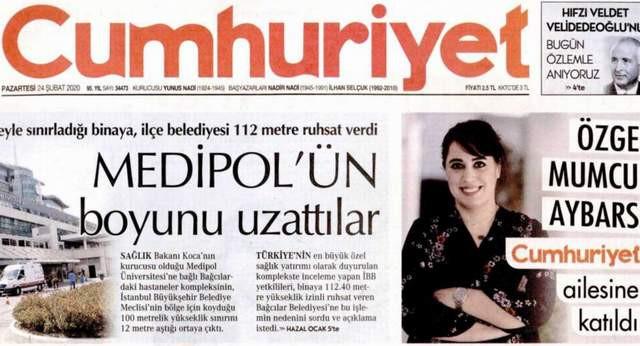 Uğur Mumcu'nun kızı Cumhuriyet'te