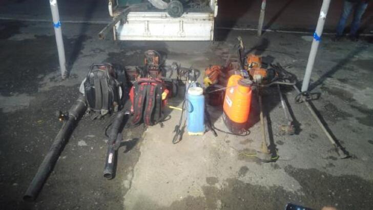 Depodan 25 bin liralık malzeme hırsızlığının şüphelileri yakalandı