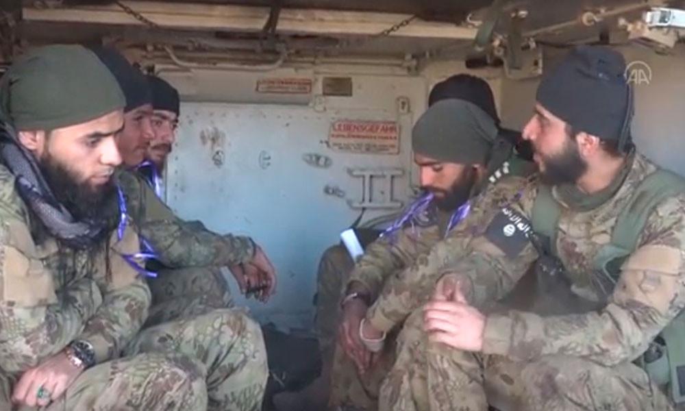 ÖSO asklerinin kolundaki IŞİD arması olay oldu!