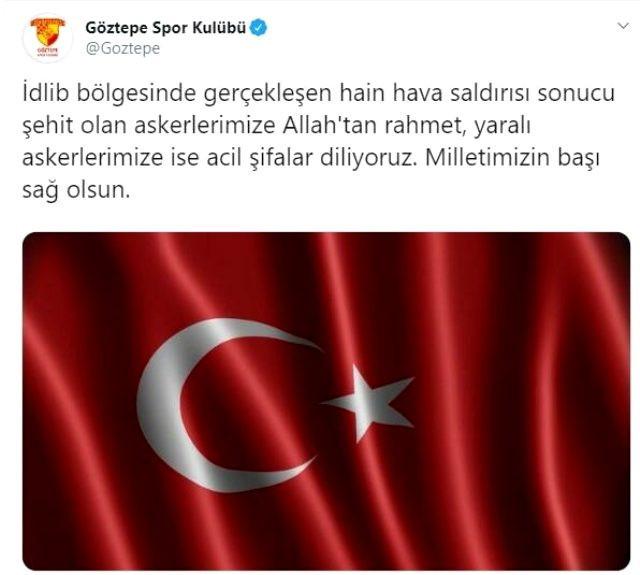 Türk sporu İdlib saldırısına sessiz kalmadı !