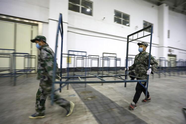 Çin'de koronavirüsü için yapılan hastaneler ilk kez görüntülendi - Resim: 2