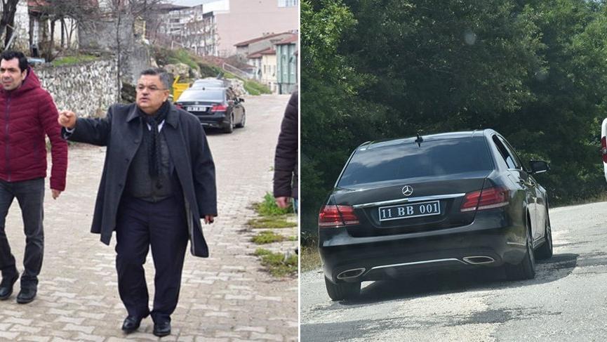 Sahte denilen plakayı AK Partili başkan taktırmış !