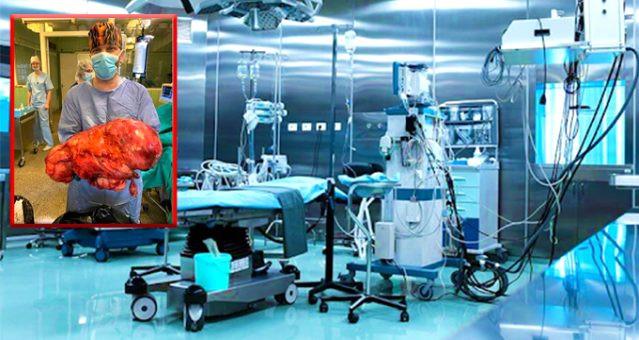 Kanser hastasından 15 kilogram tümör çıktı !