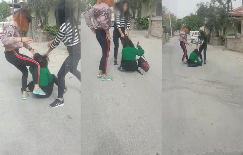 Kız çocukları çete kurup, dehşet saçtı ! Kan donduran görüntüler
