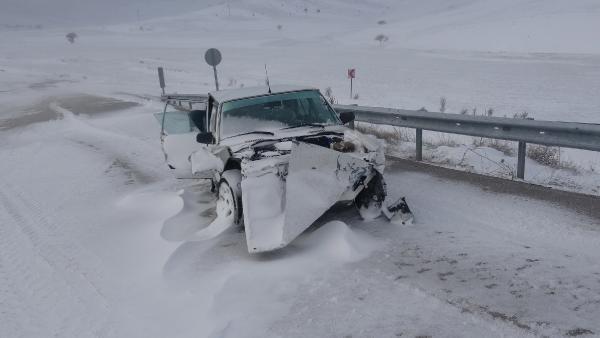Feci kaza ! 17 araç birbirine girdi