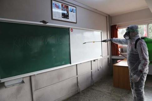 Okullarda dezenfeksiyon çalışması yapıldı
