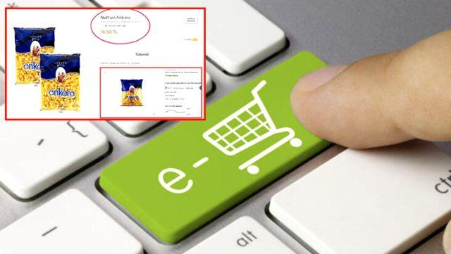 Ünlü e-ticaret sitesindeki makarna ve kolonya fiyatları tepki çekti