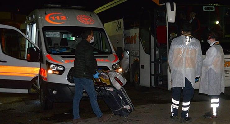 Otobüste koronavirüs ihbarı: Karantinaya alındılar!