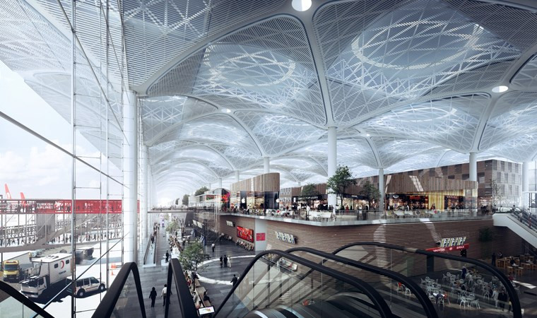 İstanbul Havalimanı'nda koronavirüs eylemi