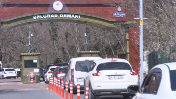 Vatandaş uyarılara rağmen Belgrad Ormanı'na akın etti