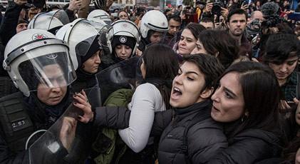 Kadıköy'de eylem yapan kadınlara hapis istemi