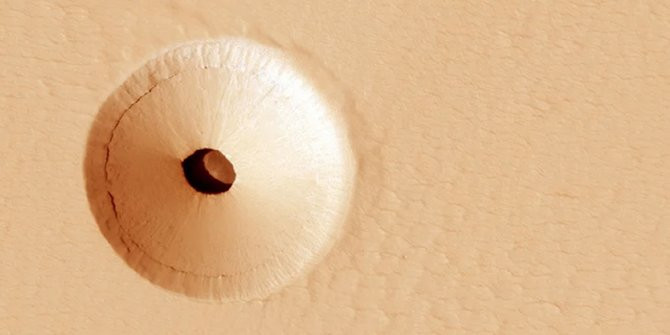 Mars yüzeyinden ilginç fotoğraf