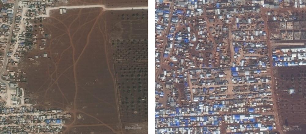 İdlib'deki yıkım böyle görüntülendi