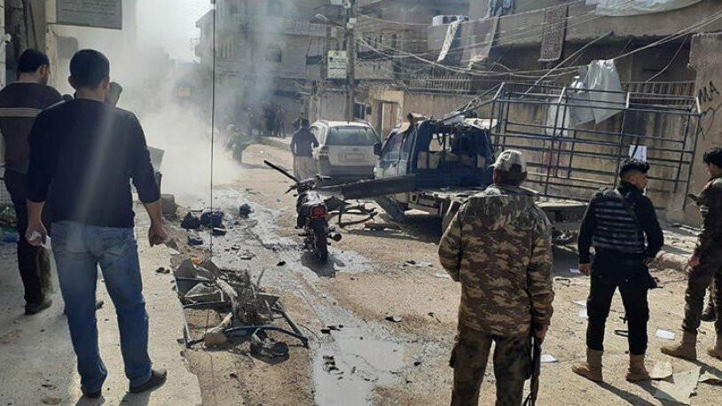 Afrin'de bomba yüklü araçla saldırı: 1 ölü, 2 yaralı