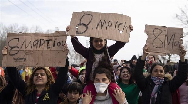 Türkiye sınırında eylem var! Sığınmacı kadınlar ''kapıları açın'' dedi
