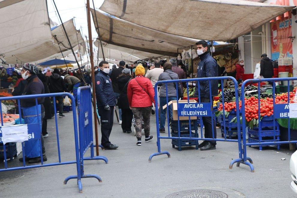 Pazar yeri düzenlemesinde ilk görüntüler İstanbul'dan geldi